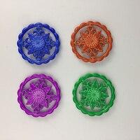 Rainbow Flowers Tri Fidget Spinner Aluminium Alloy Metal Adults Anti Stress Toy Autism Gift ADHD Funny
