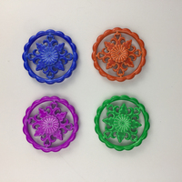 Rainbow Flowers Tri Fidget Spinner Aluminium Alloy Metal Adults Anti Stress Toy Autism Gift ADHD Funny