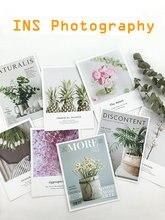 9 pièces/lot revue fleurs image ensemble papier carte carton INS photographie fond ornement Photo Studio tournage décors