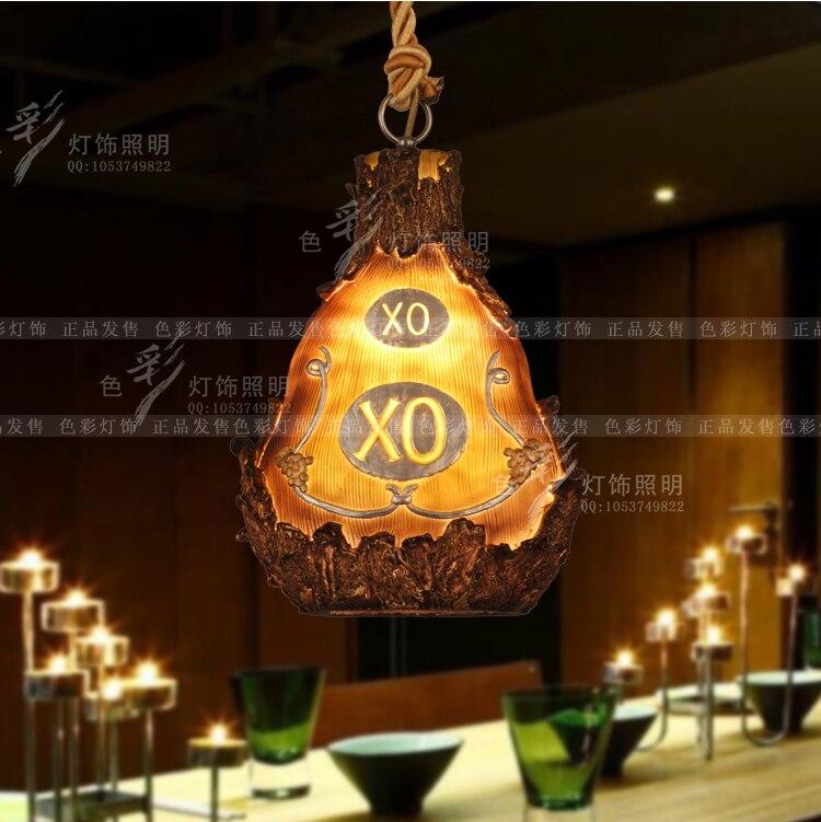 Creative personality retro loft bar restaurant pendant lights modern Resin bottle barrel cafe pendant lamp все цены