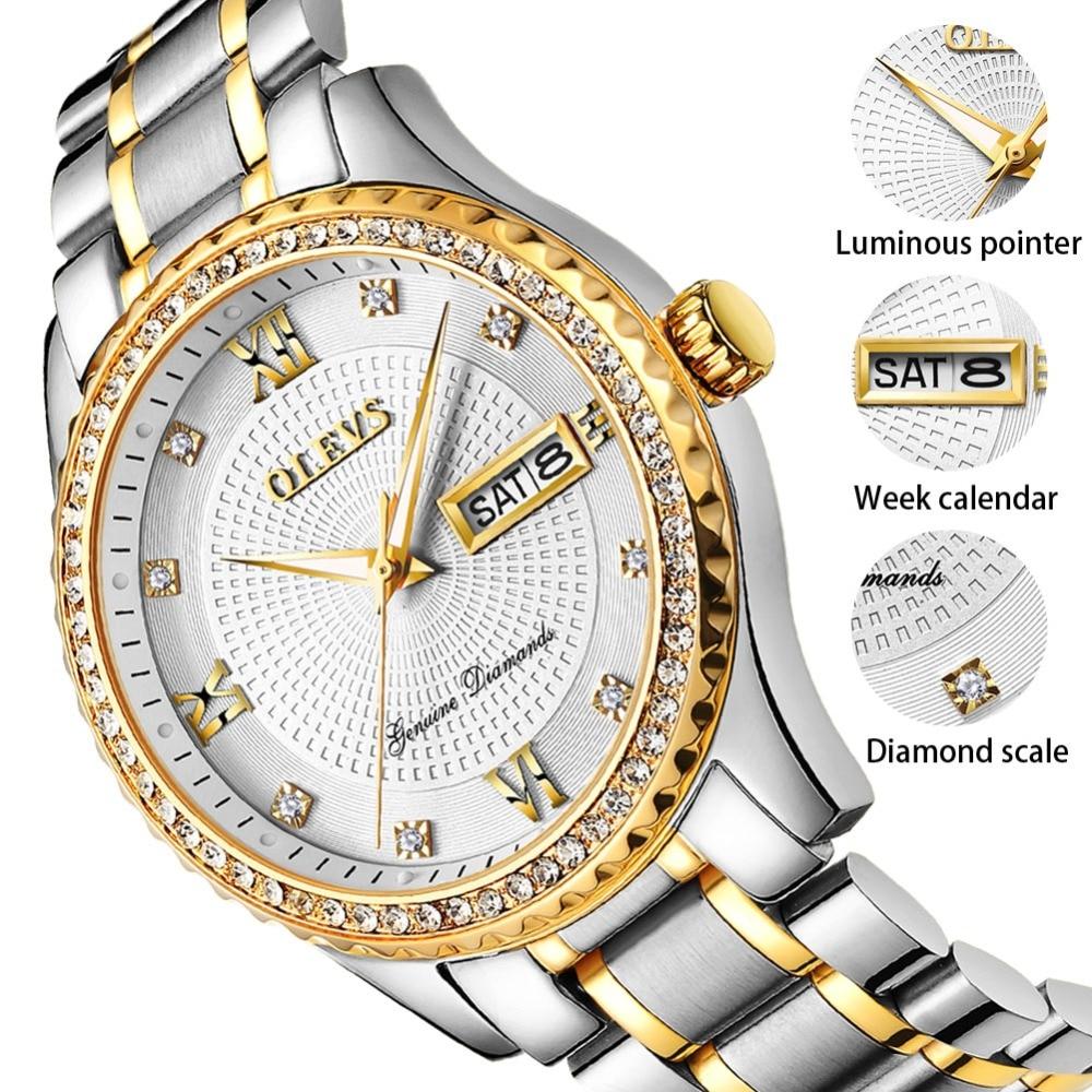994331b90461 OLEVS marca superior relojes de lujo para hombre