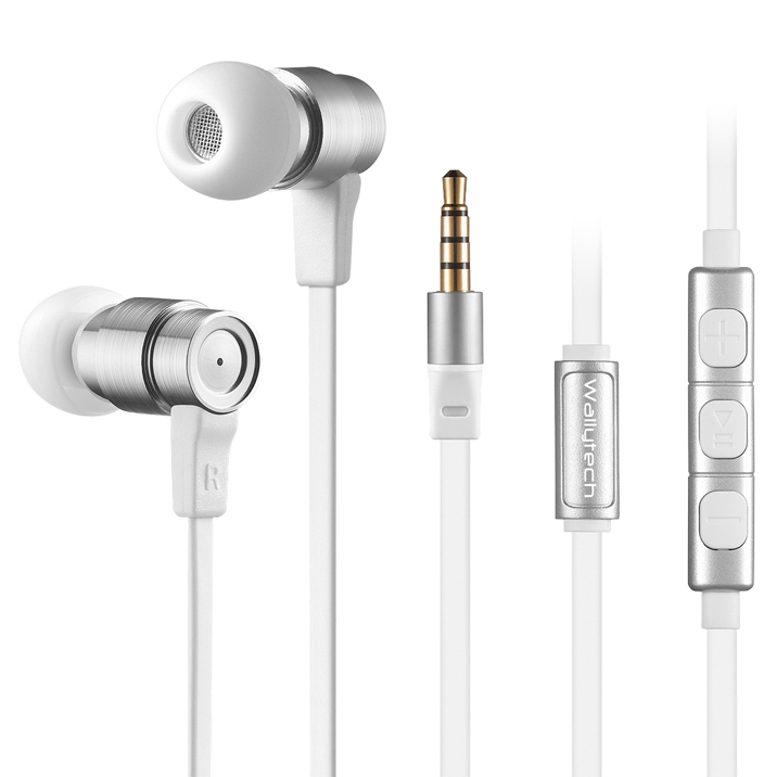 Wallytech Metal Earphones With Mic Volume Control Noise Isolating Headphones For Apple Iphone 6 6 Plus