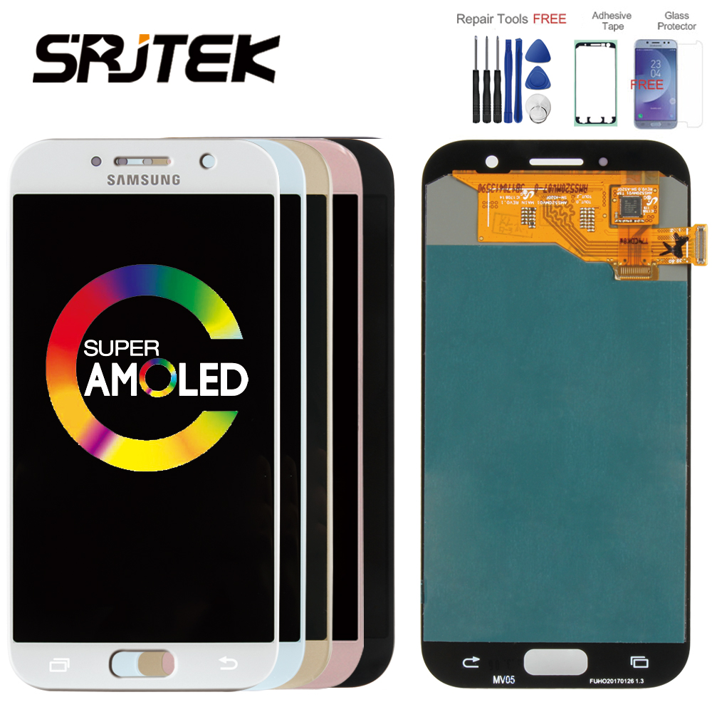 ORIGINAL 5.2 Super AMOLED LCD para SAMSUNG Galaxy SM-A520F A520 A520F A5 2017 Exibição Digitador Da Tela de Toque LCD de Substituição