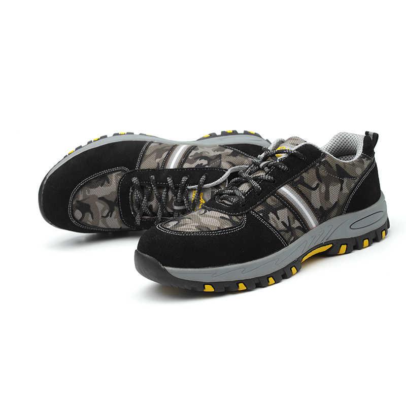 AC12010 Heavy Duty รองเท้าผ้าใบผู้หญิงรองเท้าเซฟตี้คุณภาพสูงยางเหล็กแรงงานทำงานอุตสาหกรรมป้องกันรองเท้า Acecare