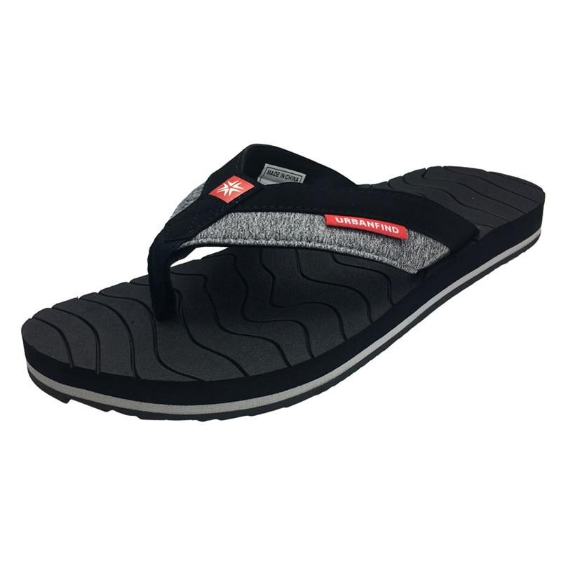 Schuhe Flip-flops Diplomatisch Patchwork Design Männer Casual Flip-flops Big Size 41-46 Breathale Mann Sommer Hausschuhe Mode Faulenzer Grün Grau
