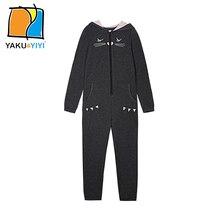 Ykyy yakuyiyi nouveau foncé gris filles sweat chat imprimer bébé filles hoodies taille haute chat chapeau enfants sweat filles clothing