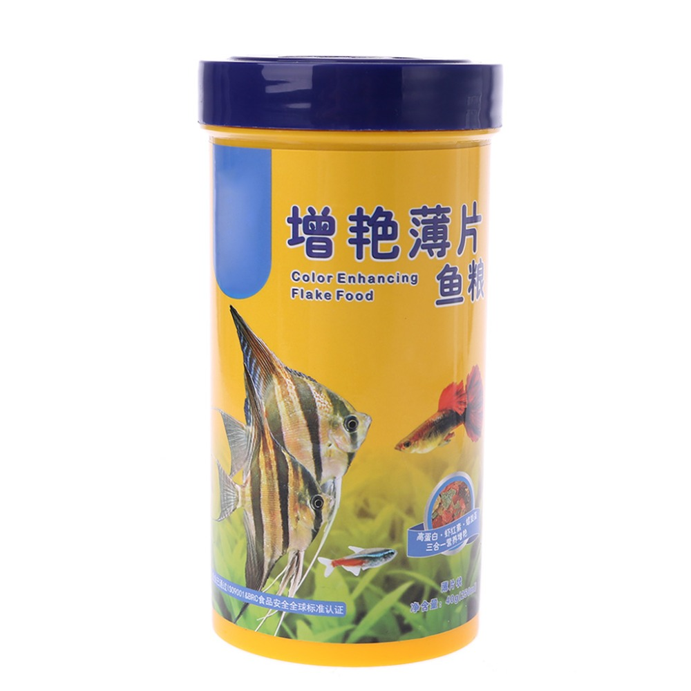Fish Flakes For Tropical Fish Marine Ornamental Aquarium Fish Tank Feeding Foods