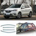 4pcs New Smoked Clear Window Vent Shade Visor Wind Deflectors For Renault Koleos