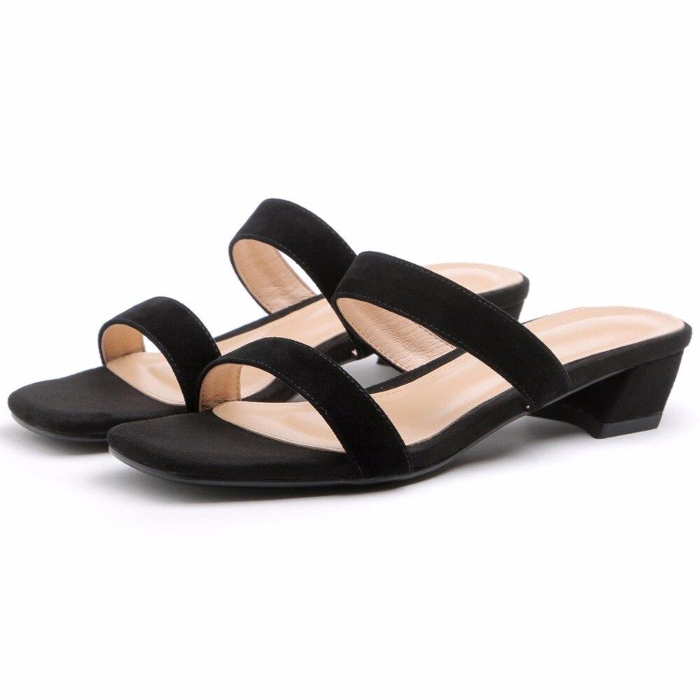 Del 41 Genuino Cuero Black De Las 33 Casuales Verano Pie Furtado Arden Moda white Tamaño Señoras 2018 Zapatillas Zapatos Dedo Blanco Diapositivas Abierto qnvEZR