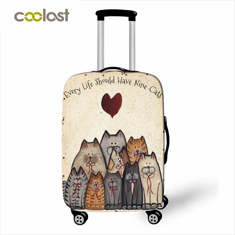 Sevimli yavru/dondurma/uçan domuz baskı bagaj kapağı Seyahat Aksesuarları elastik anti-toz bavul kapakları tekerlekli çanta kapak