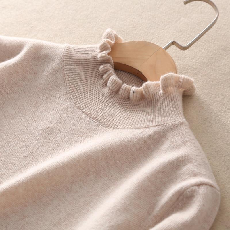 Nouvelles kaki En Mode Noir Femmes À Roulé Qualité Haut Pull Chandail Col gris rose De D'hiver Bonne Cachemire YmIfvb76gy