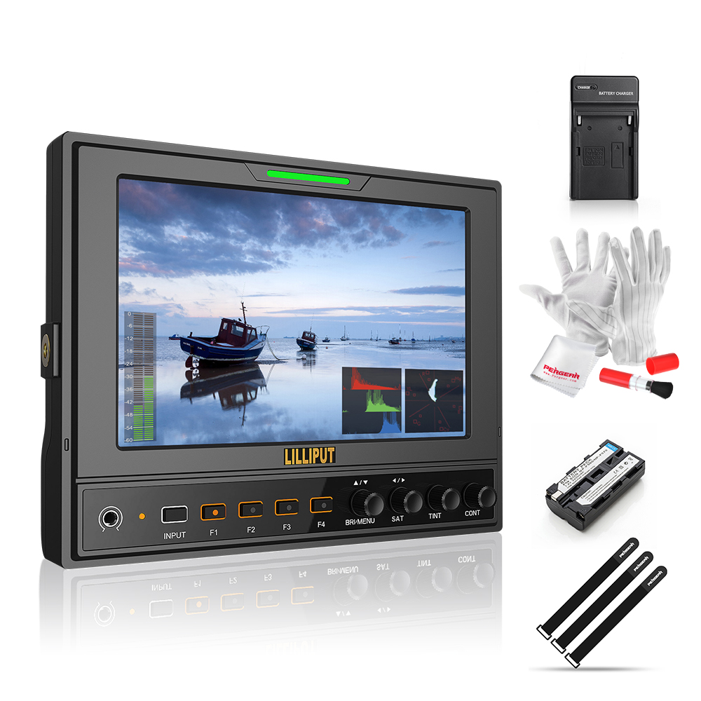 Lilliput 662/S 7 IPS 1280*800 HD Camera Field Monitor HD-SDI Input and Output+Battery and Charger+Sunshade Cover+Shoe Mount