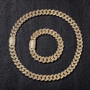 Image 5 - Colliers en zircone cubique, style Hip Hop, AAA, pierre CZ glacée carrée, lien cubain, chaîne Chokers pour hommes, bijoux de rappeur