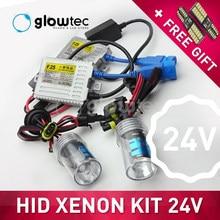 24v 55w farol hid xenon kit fino lastro caminhão luz h7 h3 h7 h8 h9 h11 9006 6000k 4300k 8000k todas as cores dom livre glowtec