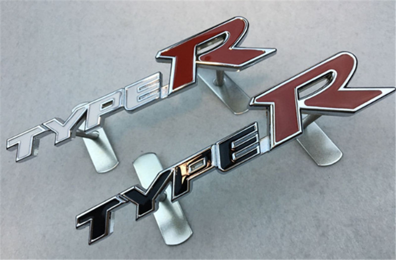 Car-Styling TYPER TYPE R Car Front Grille Emblem Badge For Honda City CRV CRZ HRV Accord FIT Odyssey Stream Crider Accessories 3d ss car front grille emblem badge stickers accessories styling for jaguar honda chevrolet camaro cruze malibu sail captiva kia