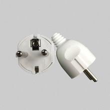 5PCS EU  AC Power Adapter Socket 16A 250V Connector Cable Electrical Plug White  Male Converter Adaptor Detachable Plug цена