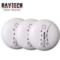 DAYTECH Smoke Detector Alarm Sensor Fire Alert Sensor 85db Battery Powered for Kitchen/Home/Mall/Hotel/Restaurant/Office 3 PCS