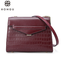 HONGU Fashion Design Women Messenger Bag Natural Cowskin Business Bag Solid Laptop Tote Bag Soft Handbag Functional Storage Bag