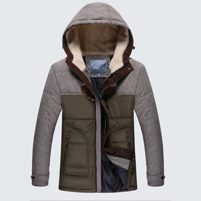Men Winter Jacket Plus Size New Arrival Casual Slim Cotton With Hooded Parkas Casaco Masculino MA513