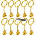 10Pcs Dental Lab Molar Tool Keychain Dentist Hygienist Gold Plated