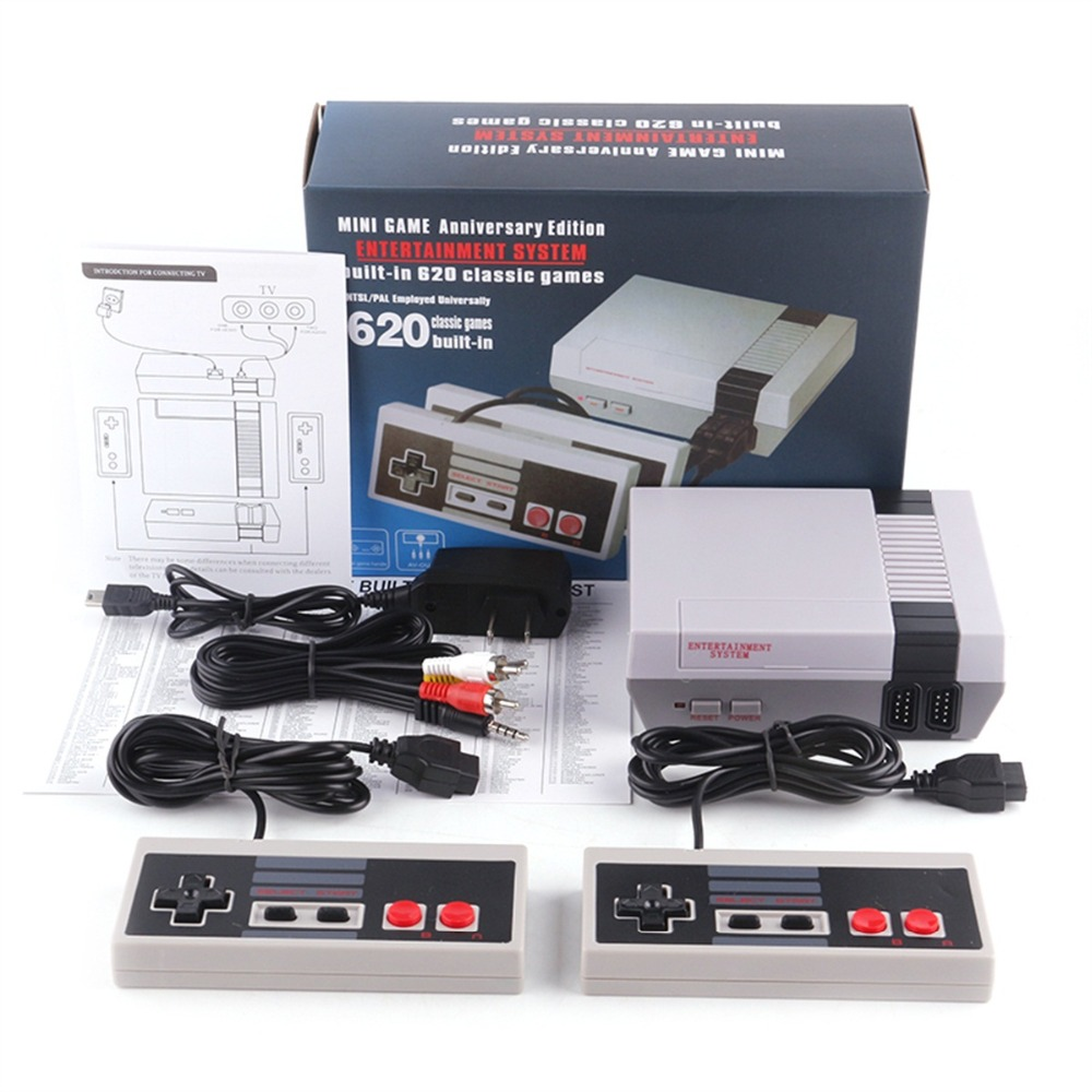 Mini NES AV Output Mini TV Handheld Retro Video Game Console with Classic 620 games Built-in for 4K TV PAL & NTSC