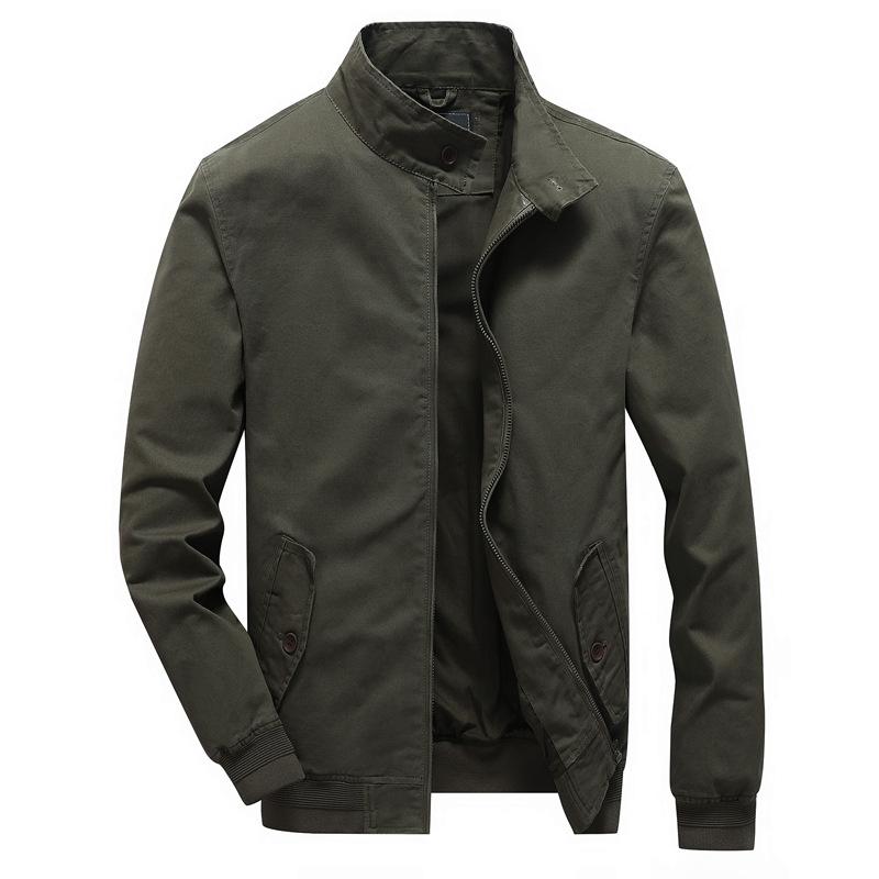 b New Spring Jacket Men High Quality Casual Cotton Outwear Brand Mens Jackets Windbreaker Bomber jacket Plus Size XS 6XL in Jackets from Men 39 s Clothing