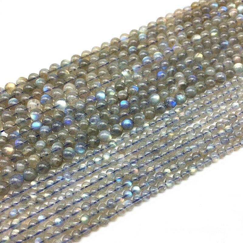 BEADZTALK AA Round Labradorite Moonstone Spacer Beads 4 mm 5 mm 6 mm 7 mm 8 mm DIY Jewelry Making Supplies Gift