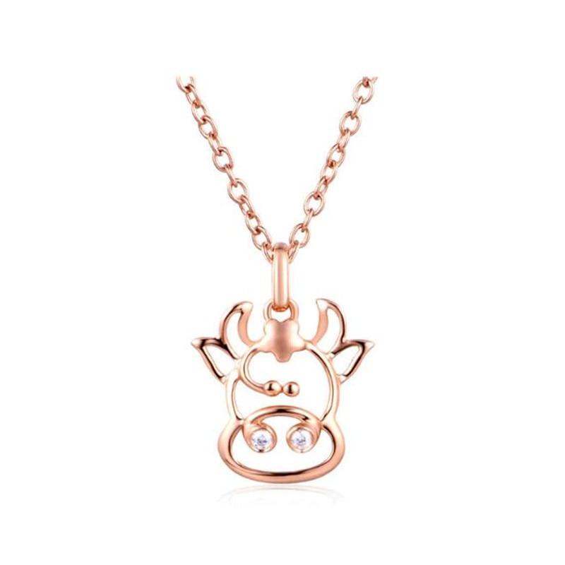 12 zodiaque symbole Constellation astrologie Horoscope collier pendentif Taurus 100% réel 18 K or femmes bijoux cadeaux 0.58G