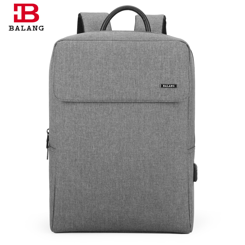 BALANG Men Business Backpack for 15.6 inch Laptop Women Large Capacity School Backpack Teenagers Waterproof Travel Bags Mochila business 15inch laptop backpack men large capacity computer backpackes office women quality waterproof travel bag school bags 45
