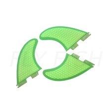 Серфинга-три shortboard подруливающее сотовой ядра стекловолокно ребра фтс fcs плавники производительность