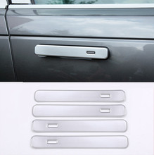 цена на For Landrover Range Rover VELAR 2017 ABS Matte Silver Exterior Door Handle Trims Car Accessories 4pcs