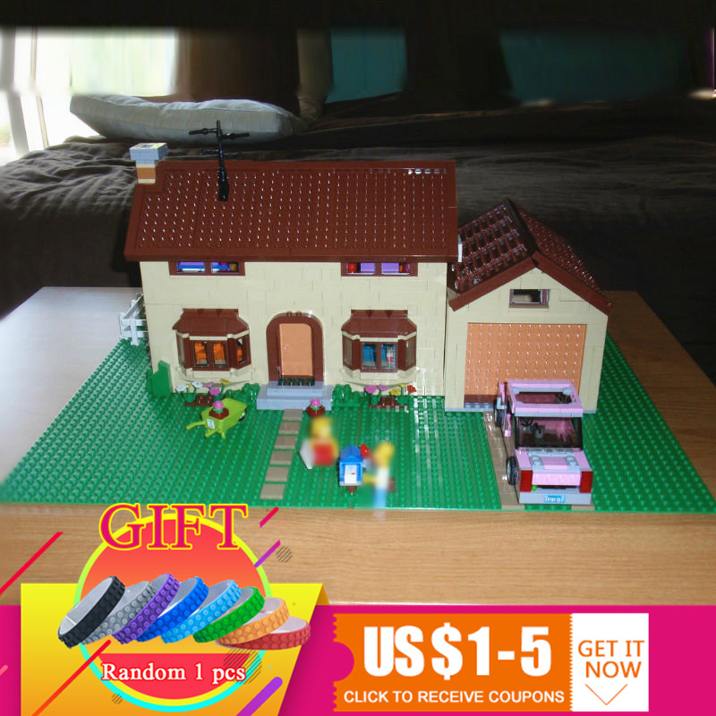 16005 2575Pcs The Simpsons House set Compatible with 71006 Model Building Block Boy gift toys цена
