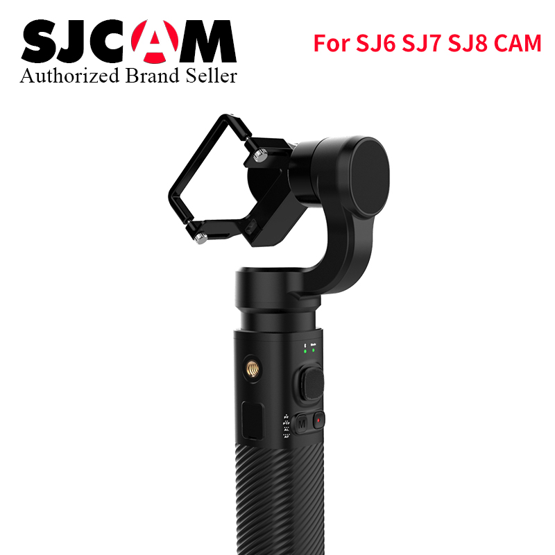 SJCAM 3 Axis GIMBAL Stabilizer Bluetooth Control Type C SJ-Gimbal 2 Handheld for SJ6 SJ7 SJ8 Air/Plus/Pro yi 4k wifi Action Cam new arrive sjcam sj7 star sj6 legend accessies 3 axis handheld gimbal for sjcam sj6 sj7 star wifi series cam