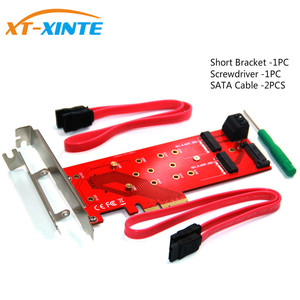 Image 2 - 3 Interfaces M.2 for NVMe SSD for NGFF to PCIE X16 Adapter M Key 2x B Key Riser Card Expansion Card Support PCI Express 3.0 4X