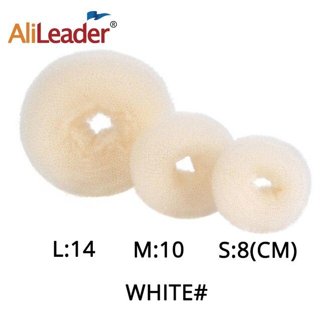 Alileader Hot Fashion Magic Hair Bun Maker Accesories Chignon Magique Hair Donut Bun For Women Hair Styling Tools White/Brown 2