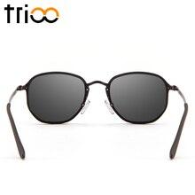 TRIOO 2018 High Fashion Small Square Sunglasses Women Men Unisex Narrow Lens Lunette Color Lens Mirror Oculos de sol feminino