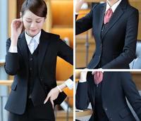 3 Piece Pant Suits Women Casual Office Business Suits Formal Work Wear Sets Uniform Styles Elegant Pant Suits B276
