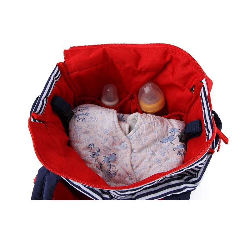 Women Stripe duffel bag High capacity Mummy baby Diaper Bag with Pad mommy  Large Travel Bag Baby Nappy Care maternity mom-in Diaper Bags from Mother    Kids ... e5825c20b8