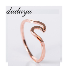 Unique Rose Gold/Gold/Silver Wave Ring High Quality Wedding Rings For Women Best Gift Simple Dainty Thin Jewelry