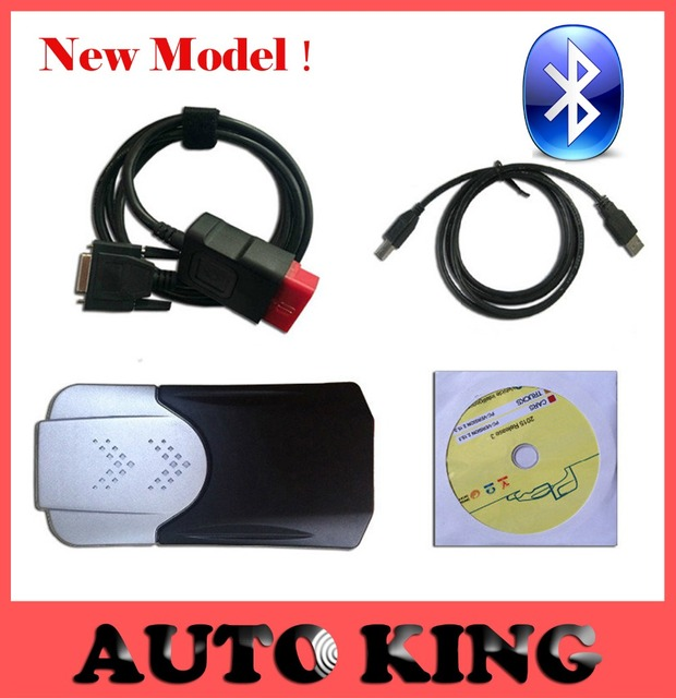 2pcs+DHL Free ship! new vci vd ds cdp with bluetooth tcs cdp pro for cars trucks auto diagnostic obd2 scan tool -in stock!