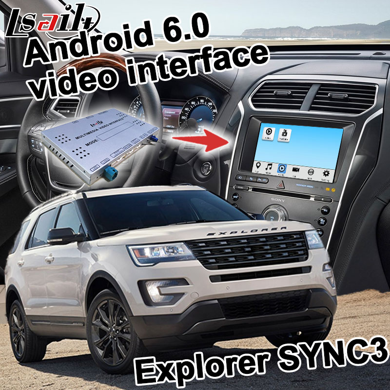 Android navigation box for Ford Explorer etc video interface SYNC 3 mirror link Carplay quad core youtube waze GPS yandex