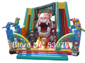 The latest inflatable slides, inflatable castles, Inflatable Bouncer,The tiger slide