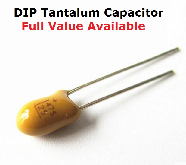 100Pcs Tantalum Capacitor DIP 25V22UF 22UF 25V 226 Radial
