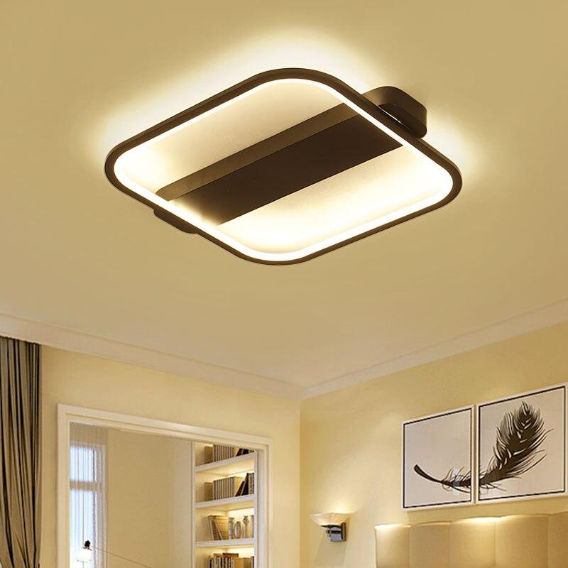 Acrylic Modern Led Chandelier Lights For Living Room Bedroom Square Indoor Ceiling Chandelier Lamp Fixtures90-260V