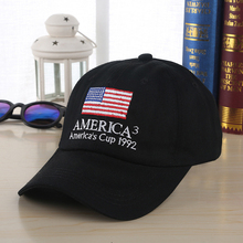 2019 new American flag embroidery men and women fashion baseball cap outdoor sun protection visor