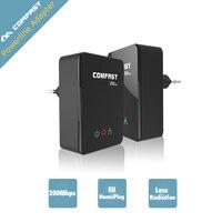 EU CF WP200M Home Plug 200Mbps Plc Modem Ethernet Power Line COMFAST Powerline Network Adaptador Bridge