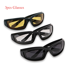 a18133207c 3pcs Universal Ski Motorcycle Goggles With Glasses Lens Motorcycle Goggles  Vintage Protective Motocross Off-Road