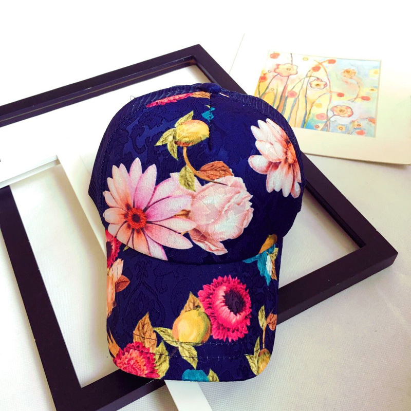 Hot Sale Ladies   Baseball     Caps   Flower Printing Summer Style Hip Hop Cool   Cap   for Women Quick Dry Sun hat Snapback