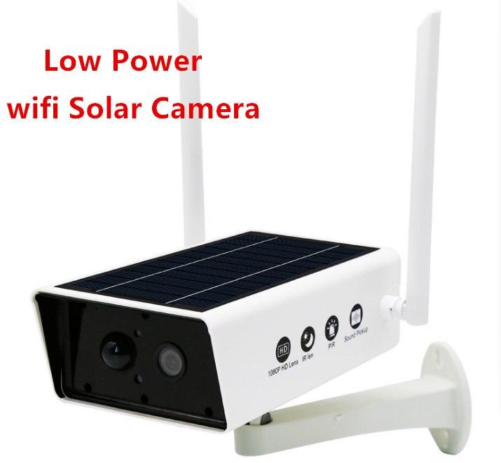 1080P HD Security Solar Camera Power Outdoor Waterproof Wifi IP Camera Night Vision Surveillance CCTV Camera Video Recorder Surveillance Cameras     - title=