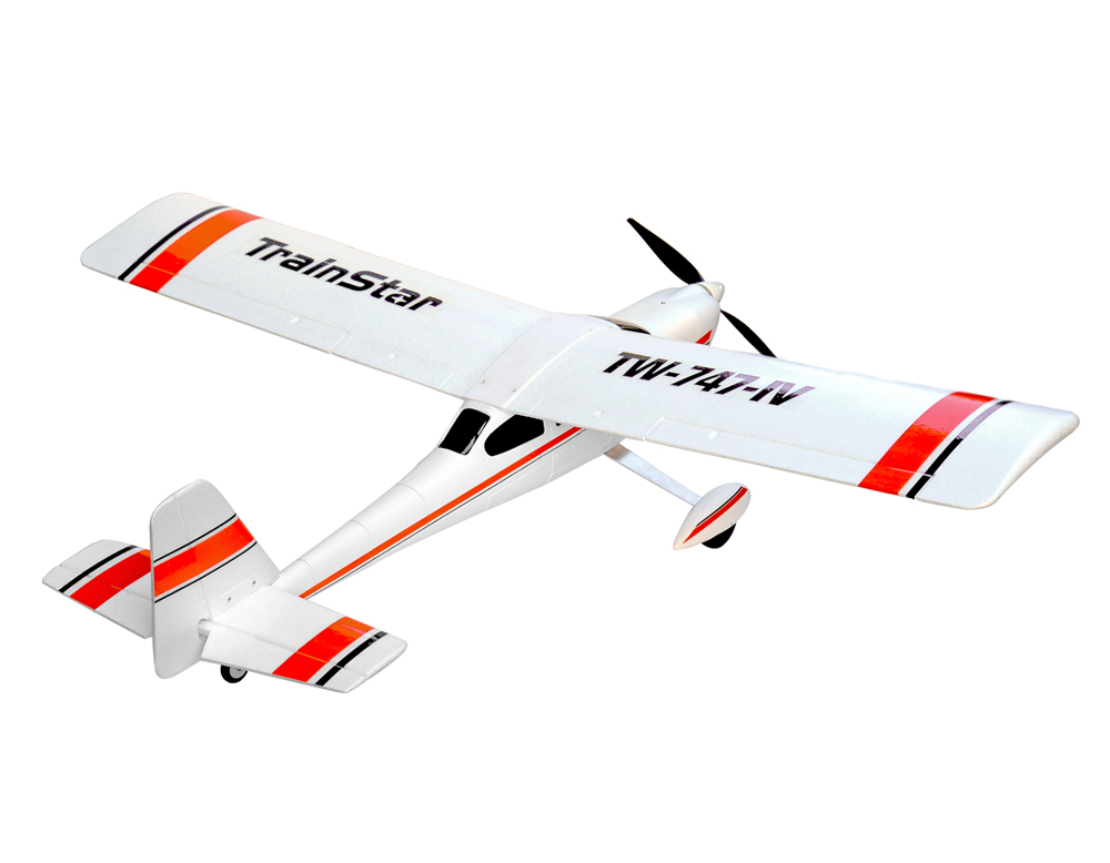 Volantex TrainStar RC KIT Plane Model W/O Brushless Motor Servo 30A ESC Battery volantex super decathlon rc rtf plane model w brushless motor servo esc battery